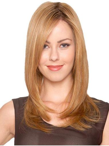 Blonde Sans Frange Bouclé Impertinent Longue Perruques Monofilament