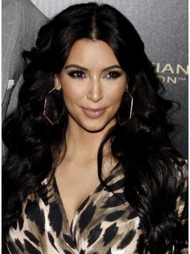 """Perruques Kim Kardashian 26"""" Belle Noir"""