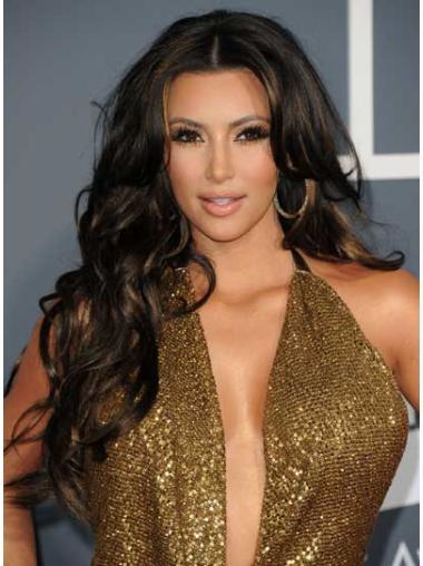 """Perruques Kim Kardashian 26"""" à la mode Noir"""