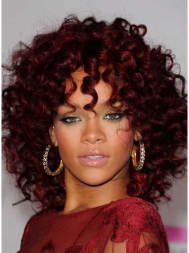 """Perruques Rihanna 14"""" Populaire Rouge"""