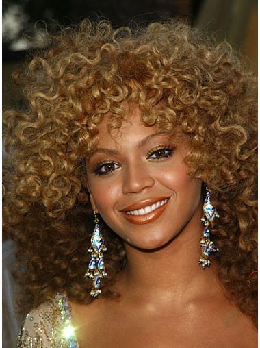 Perruques Beyoncé Propre Blonde Longueur d'Epaules Frisée