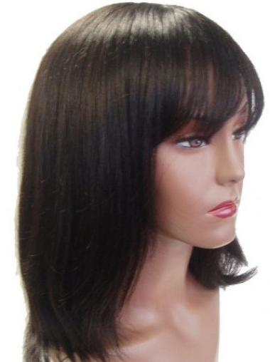 "Perruques Cheveux Humaines 14"" Fabuleux Brune"