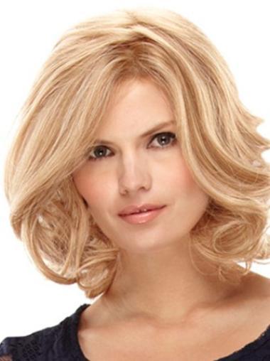 """Perruques Cheveux Humaines 12"""" Elégante Blonde"""