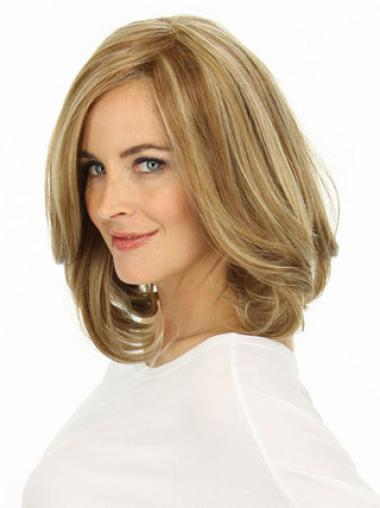 """Remy Human Perruques Lace 12"""" Exquise Blonde"""
