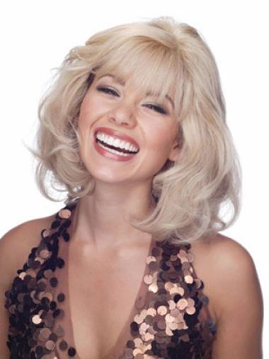 "Remy Human Perruques Lace 10"" Excellente Blonde"