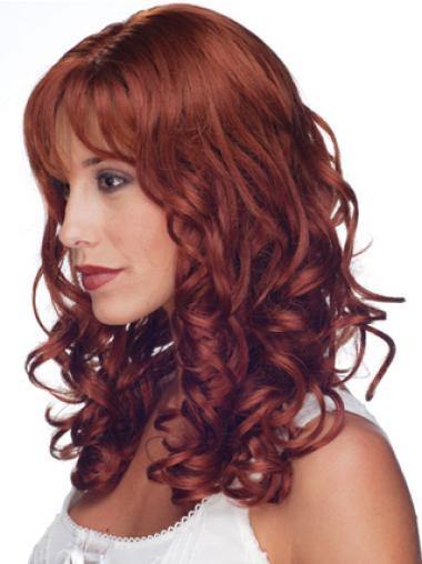 """Perruques Cheveux Humaines 16"""" Pratique Rouge"""