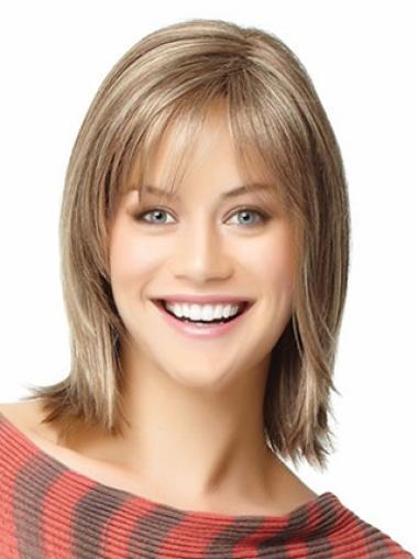 """Perruques Cheveux Humaines 10"""" à la mode Blonde"""
