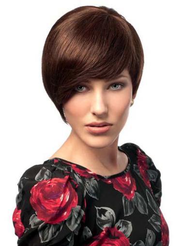 """Perruques Cheveux Humaines 6"""" En Vogue Auburn"""