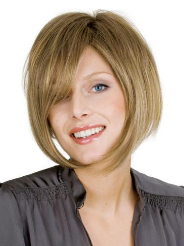 "Perruques Cheveux Humaines 10"" Appropriée Blonde"