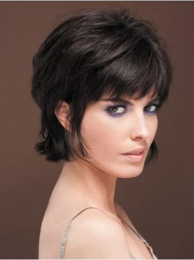 """Perruques Cheveux Humaines 8"""" Belle Noir"""