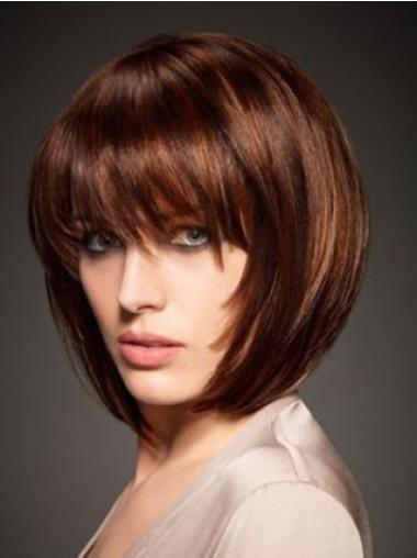 """Perruques Cheveux Humaines 10"""" Pas Cher Auburn"""