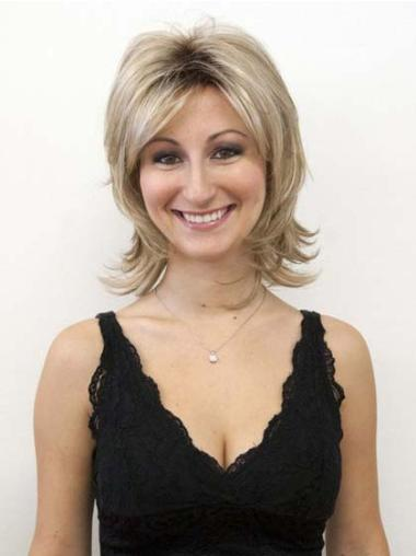 """Perruques Cheveux Humaines 12"""" Opportune Blonde"""