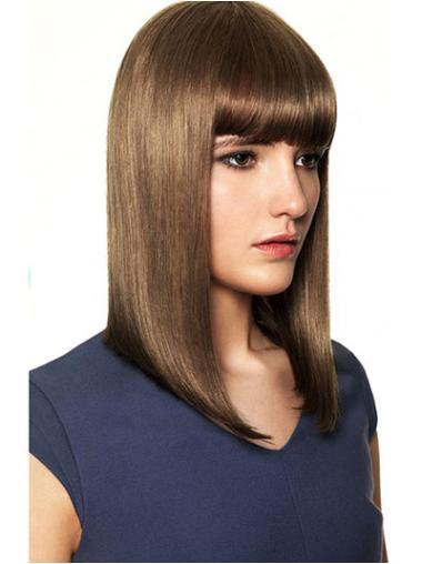 "Perruques Cheveux Humaines 14"" Invraisemblable Brune"
