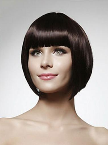 """Perruques Cheveux Humaines 10"""" Splendide Noir"""