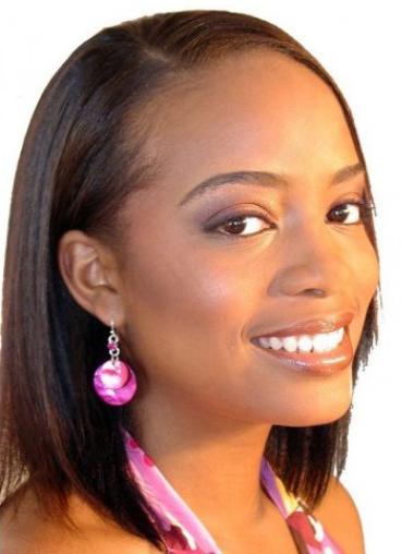 Perruques Afro-Americaines Bonne Auburn Longueur de Menton Lisse