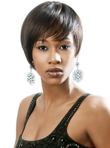Perruques Afro-Americaines Excellente Noir Courte Lisse