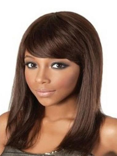 Perruques Afro-Americaines En Vogue Auburn Longueur d'Epaules Lisse