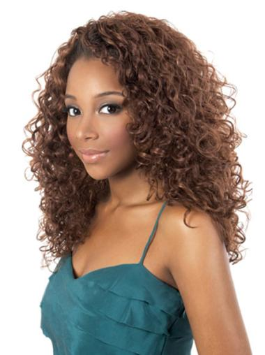 Perruques Afro-Americaines Magnifique Auburn Longueur d'Epaules Frisée