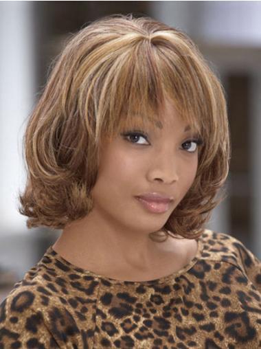 """Perruques Afro-Americaines Elégante Brune 10"""" Frisée"""