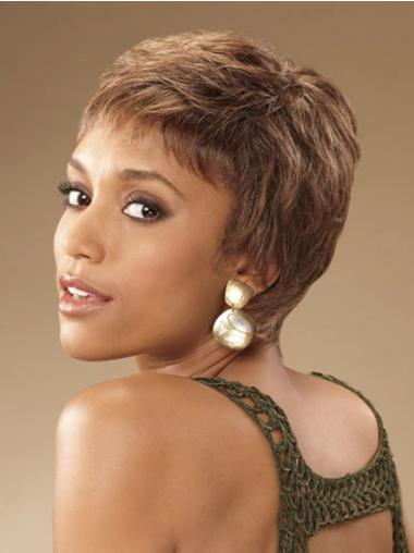 "Perruques Afro-Americaines Merveilleuse Brune 4"" Frisée"