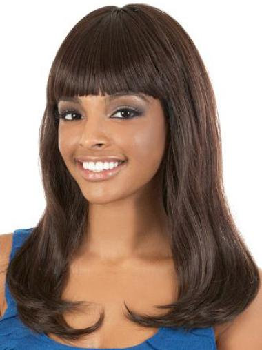 """Perruques Afro-Americaines Fabuleux Brune 18"""" Lisse"""