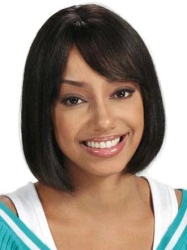 """Perruques Afro-Americaines Aimée Noir 8"""" Lisse"""