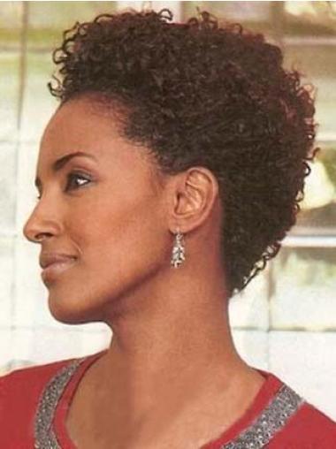 """Perruques Afro-Americaines Réduction Auburn 4"""" Frisée"""