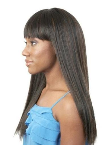 """Perruques Afro-Americaines Style Noir 20"""" Lisse"""