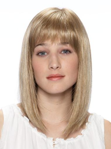 """Perruques Lace Frontale 14"""" Bon Marché Blonde"""