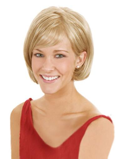 "Perruques Bob 8"" Souple Blonde"