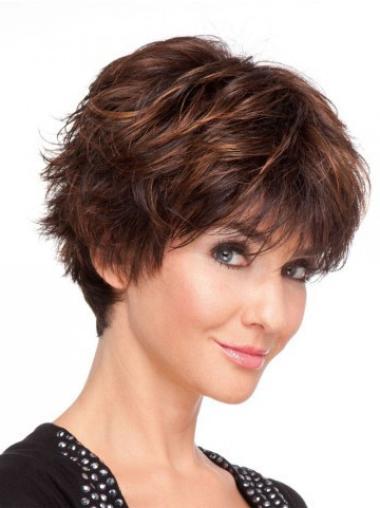"""Perruques Cheveux Humaines 6"""" Pas Cher Auburn"""