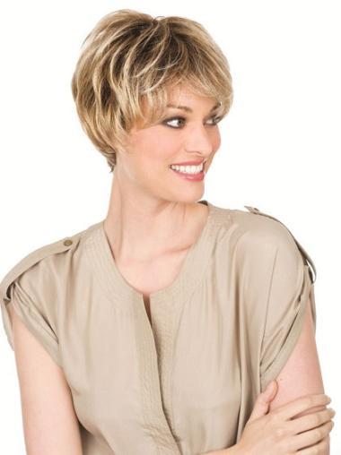"""Perruques Cheveux Humaines 6"""" Pratique Blonde"""
