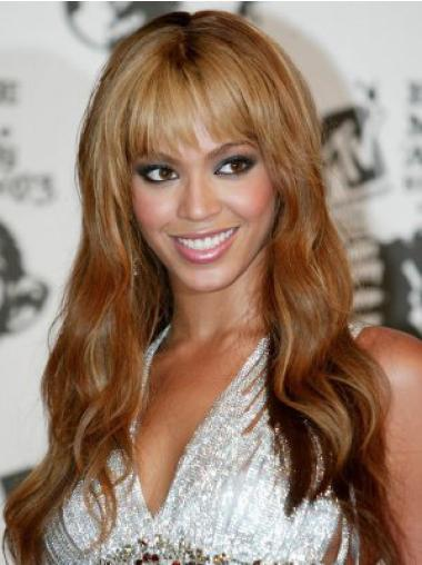 Perruques Beyoncé Confortable Auburn Longue Ondulé