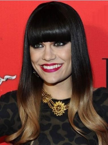 """Perruques Jessie J 16"""" Parfaite Noir"""
