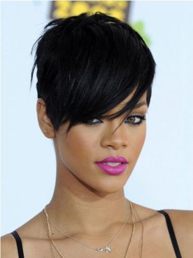 "Perruques Rihanna 6"" Fabuleux Noir"