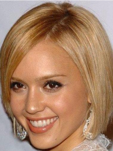 "Perruques Jessica Alba 8"" Idéale Blonde"