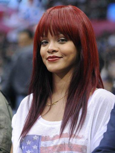 """Perruques Rihanna 18"""" Haute Qualité Rouge"""