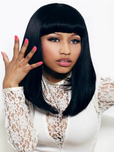 "Perruques Nicki Minaj 16"" Propre Noir"