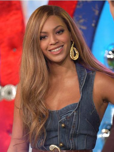 Perruques Beyoncé Soyeuse Brune Longue Ondulé
