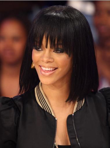"""Perruques Rihanna 12"""" En Stock Noir"""