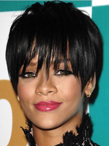 """Perruques Rihanna 6"""" Meilleure Noir"""