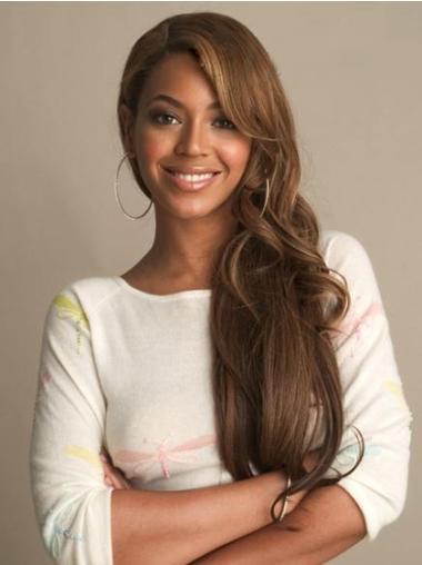 Perruques Beyoncé Durable Brune Longue Ondulé