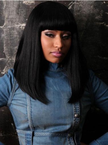 "Perruques Nicki Minaj 14"" à la mode Noir"