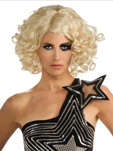 "Perruques Lady Gaga 12"" Bon Marché Blonde"