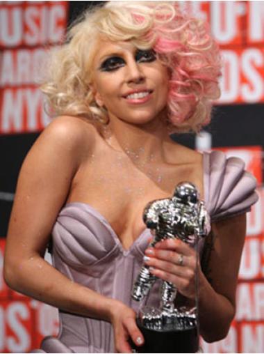 "Perruques Lady Gaga 12"" Branchée Blonde"