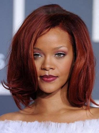 """Perruques Rihanna 12"""" Bon Marché Rouge"""