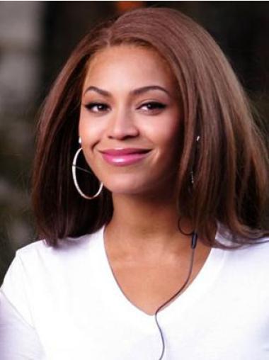 Perruques Beyoncé Appropriée Auburn Longueur d'Epaules Lisse