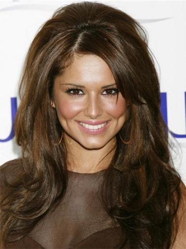 "Perruques Cheryl Cole 20"" Branchée Brune"
