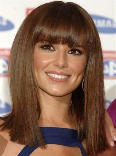 """Perruques Cheryl Cole 14"""" Fabuleux Brune"""