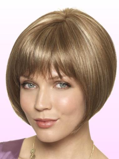 """Perruques Bob Haute Qualité Blonde 8"""" Lisse"""